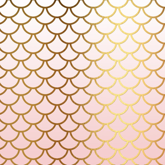 Pink Gradient And Gold Foil MermaidScales - Mermaid Scales Duvet Cover
