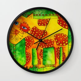 Spotty Dog Wall Clock