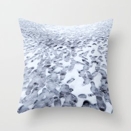 Footprints in the Melting Snow at Whistler Throw Pillow