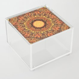 Marigold Mandala Acrylic Box