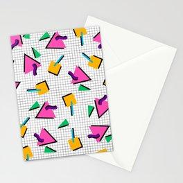 90's Geometric Print Stationery Cards