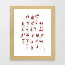 Pencil-ABC Framed Art Print