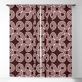Three-dimensional ethnic knots Blackout Curtain