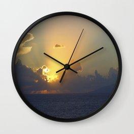 Sunset, Amalphi coast, Italy 2 Wall Clock