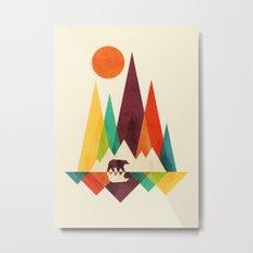 Bear In Whimsical Wild Metal Print