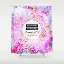 Watercolor Pastel Boho Dynamite and Glitter Shower Curtain