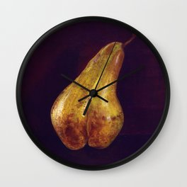 Dark summer pear Wall Clock