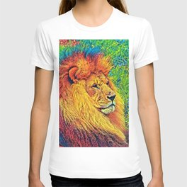 AnimalColor_Lion_003_by_JAMColors T-shirt