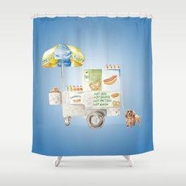 Hot Dog Truck Shower Curtain