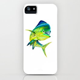 Mahi Time - Lit-Up Mahi Mahi, Dorado, Dolphin iPhone Case