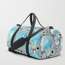 Sea Foam on Silver Sand Duffle Bag