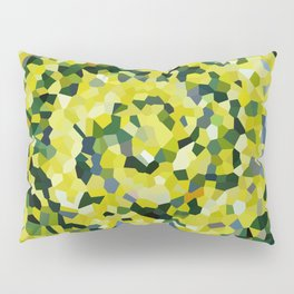 Yellow and Blue Crystallized Swirls Pillow Sham