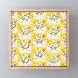Flowers in Envelope Framed Mini Art Print