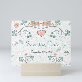 Save The Date Mini Art Print