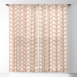 Autumn Leaves Column Pattern Sheer Curtain