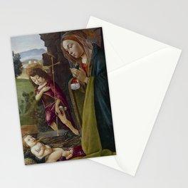 "Sandro Botticelli ""Adoration of Christ with Saint John"" Stationery Cards"