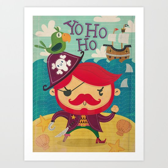 The pirate Yo ho ho Art Print