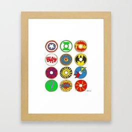 Superhero Donuts Framed Art Print