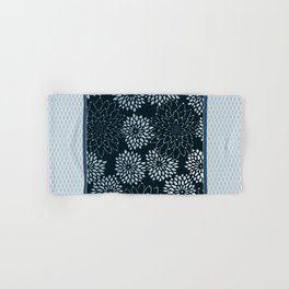 Dahlia Scallops Grey Blue Hand & Bath Towel