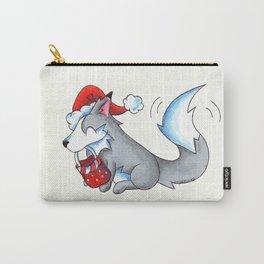 Secret Santa Wolf Carry-All Pouch