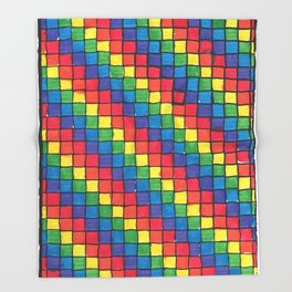 Pixel Spectrum by Sunny Throw Blanket