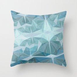 Winter geometric style - minimalist Throw Pillow