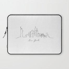 Pen line silhouette New York Laptop Sleeve