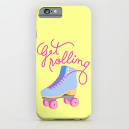 Get Rolling (Yellow Background) iPhone Case