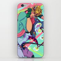 jjba iPhone & iPod Skins featuring Caesar Zeppeli JJBA Battle Tendency by Lemonade Stand Of Life