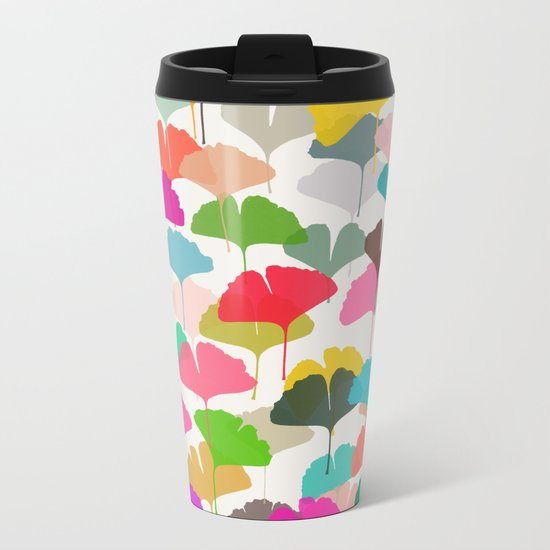 ginkgo 3 Metal Travel Mug