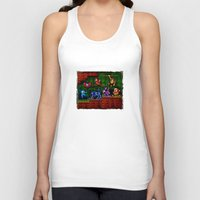 megaman Tank Tops featuring Megaman Woodman by likelikes