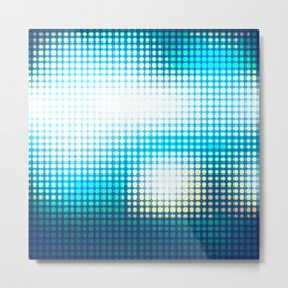Blue Lights by Friztin Metal Print
