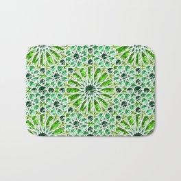 Geometric gemstones (emerald) Bath Mat
