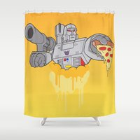 pizza Shower Curtains featuring Pizza by Jake Beeson