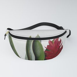 Red Flower Fanny Pack