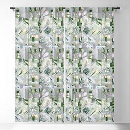 green_pattern Blackout Curtain