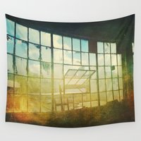 window Wall Tapestries featuring Open Window by Olivia Joy StClaire