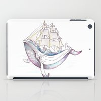 the whale iPad Cases featuring whale by Ana Grigolia