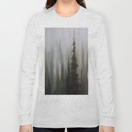 Pacific Northwest Forest oil painting by Jess Purser Long Sleeve T-shirt