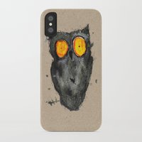 scary iPhone & iPod Cases featuring Scary owl by Bwiselizzy