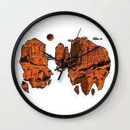 floating sedona mountain ridge Wall Clock