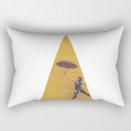 Air Umbrella Girl - Geometric Photography Rectangular Pillow