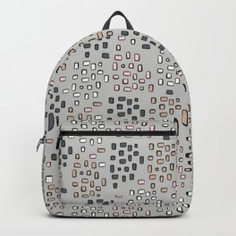Rectangle Square Doodle Vector Pattern Seamless Backpack
