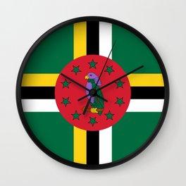 Dominica Flag Wall Clock