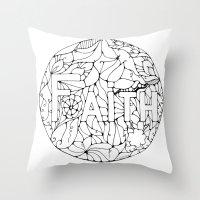 faith Throw Pillows featuring Faith by Gosia&Helena