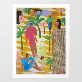 Yellow Nights Art Print
