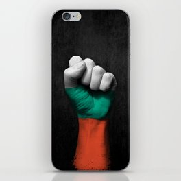 Bulgarian Flag on a Raised Clenched Fist iPhone Skin