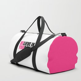 Be You Motivational Quote Duffle Bag