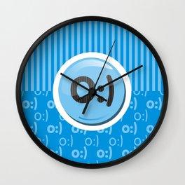 Blue Writer's Mood Wall Clock