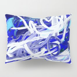 Blue & White Abstract Pillow Sham